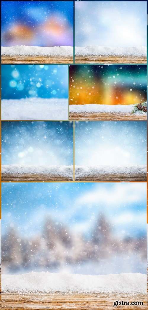 Christmas snow background 7X JPEG