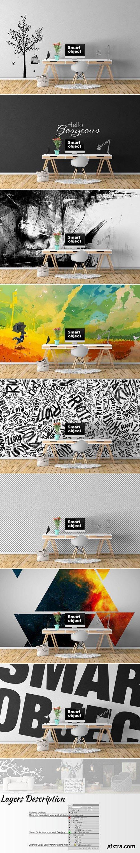 CM - Wall Mockup - Sticker Mockup Vol 35 991442