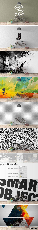 CM - Wall Mockup - Sticker Mockup Vol 34 991427