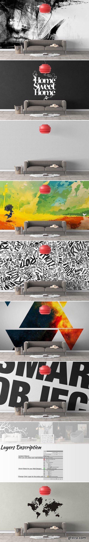 CM - Wall Mockup - Sticker Mockup Vol 32 991132