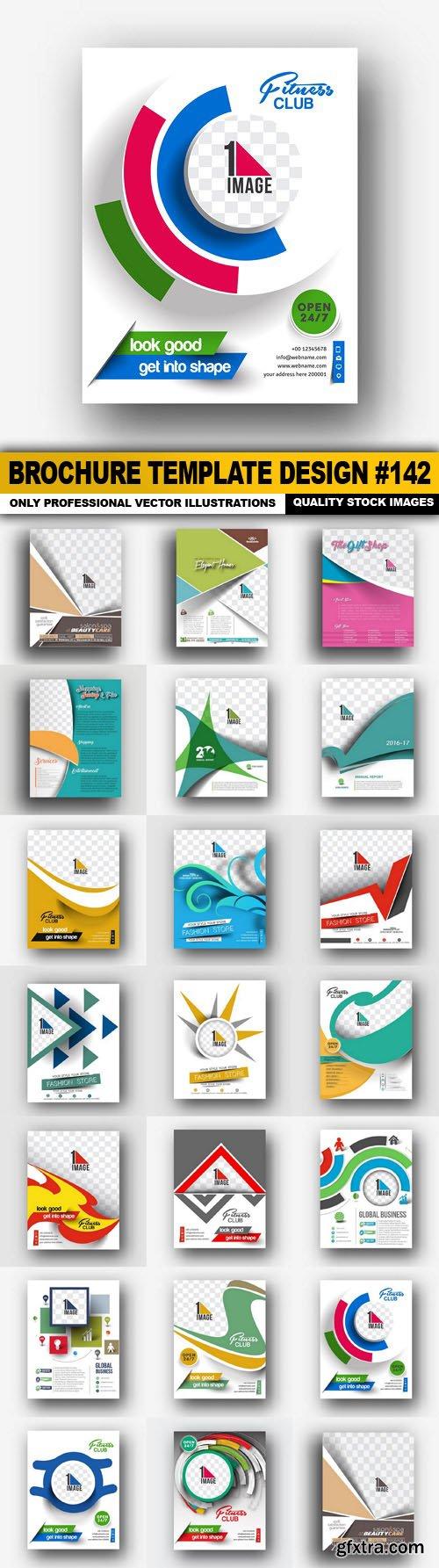 Brochure Template Design #142 - 20 Vector