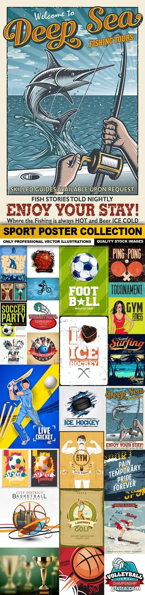Sport Poster Collection - 25 Vector