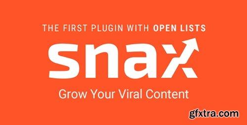 CodeCanyon - Snax v1.3.1 - Viral Front-End Uploader - 16540363