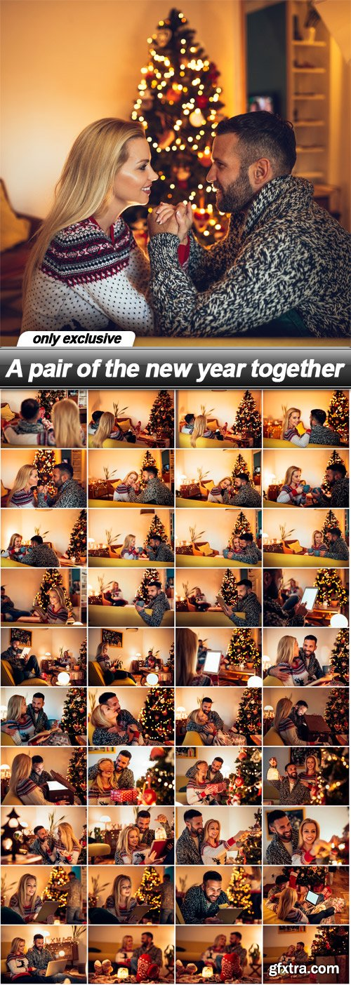 A pair of the new year together - 40 UHQ JPEG