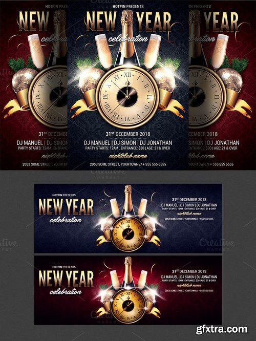 CM - New Year Party Flyer Template 1079850
