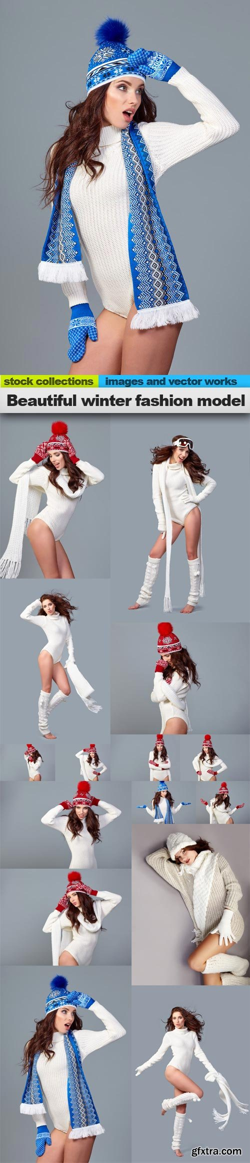 Beautiful winter fashion model, 15 x UHQ JPEG