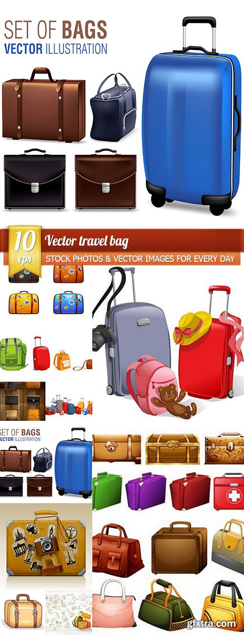 Vector travel bag, 10 x EPS