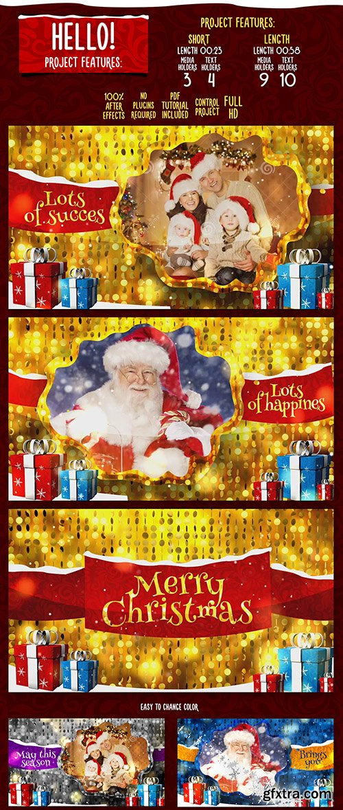 Videohive Merry Christmas Gold 18949668