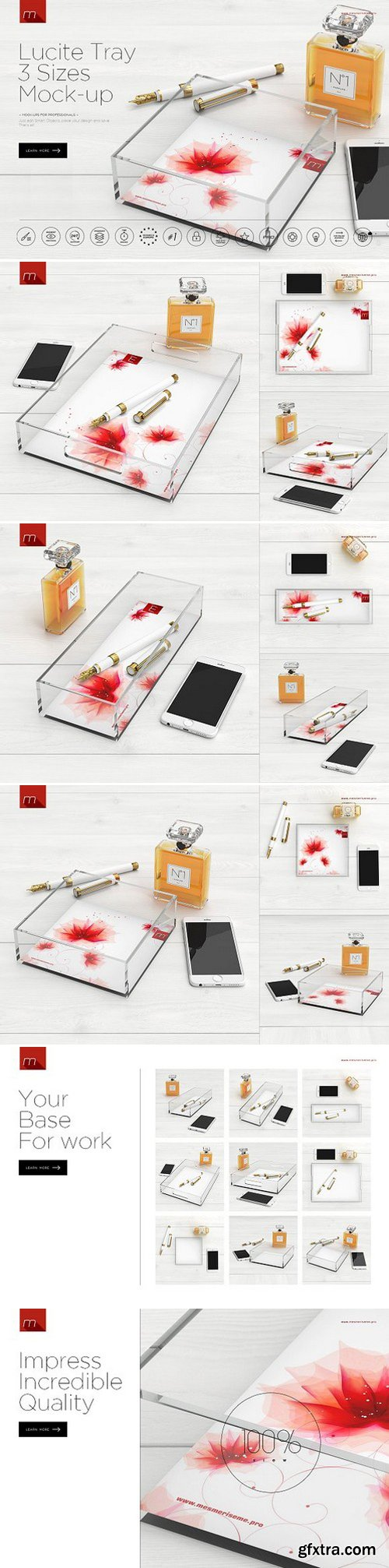 CM - Lucite Tray 3 Sizes Mock-up 1052337