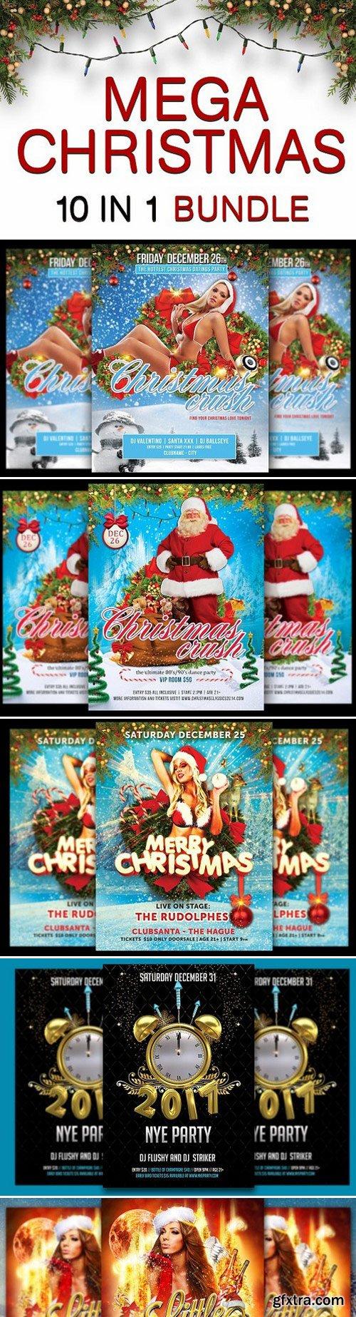 CM - Mega Christmas & NYE Flyer Bundle 981036