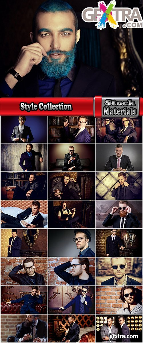 Style Collection of hipster beard glasses man in a suit 25 HQ Jpeg