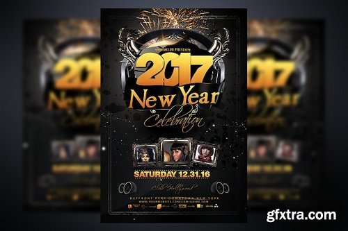 CM - New Year Party Flyer Template 937514