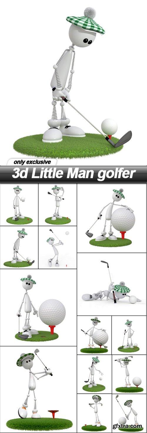 3d Little Man golfer - 14 UHQ JPEG
