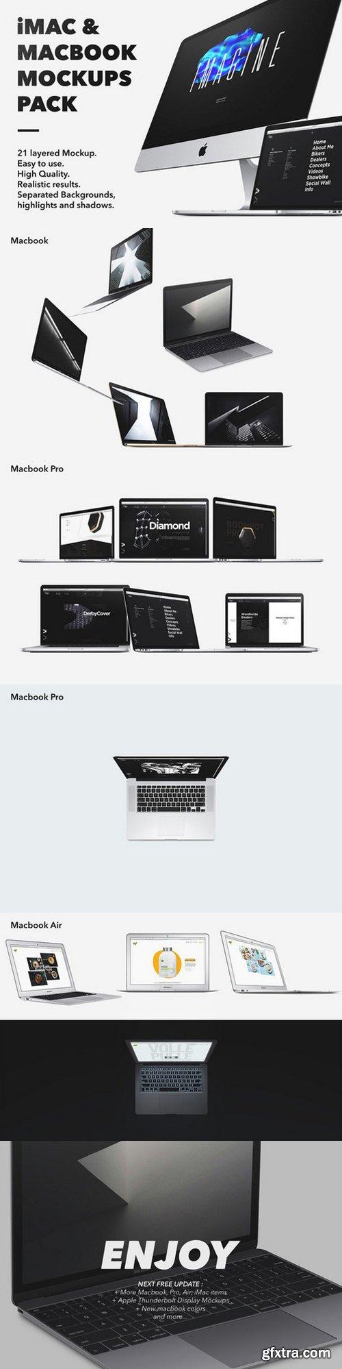 CM - iMac & Macbook Mockups pack 685907