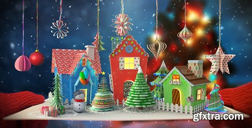 Videohive Christmas Paper Card 13867581