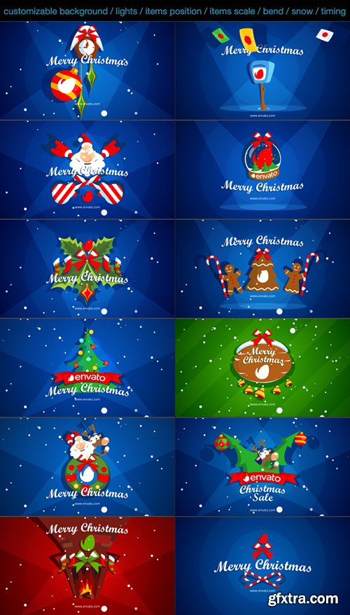 Videohive Christmas Pack Intro - Outro - Logo Openers 13553386