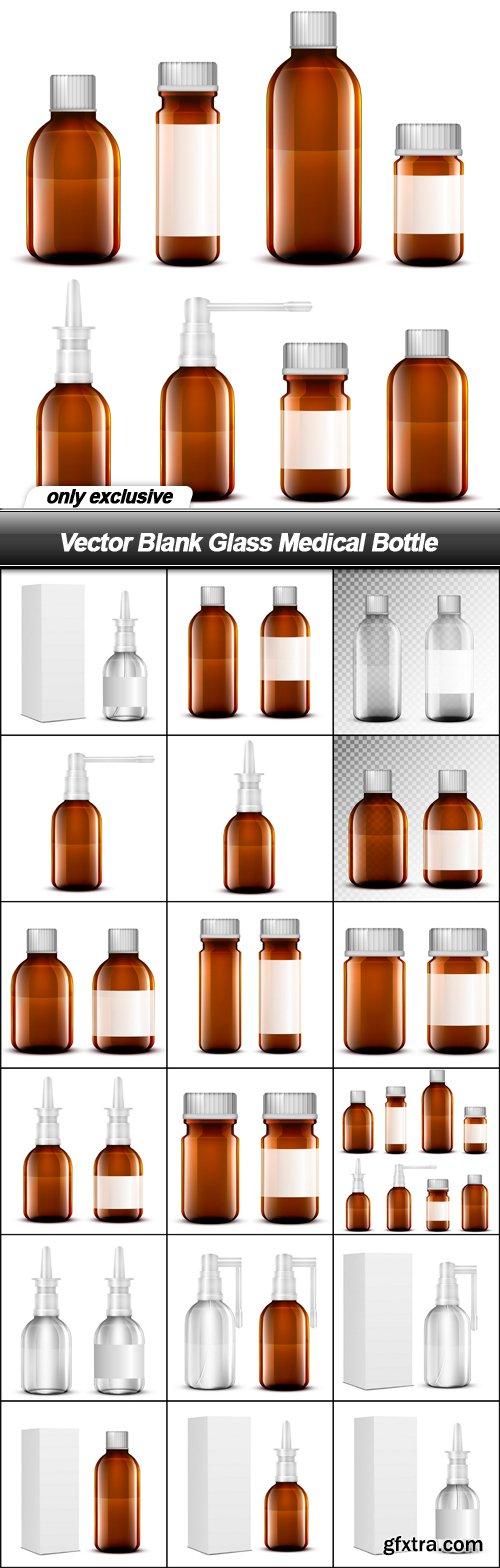 Vector Blank Glass Medical Bottle - 17 EPS