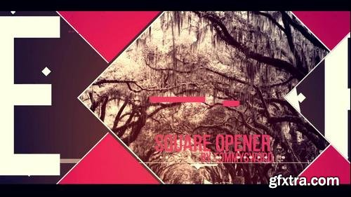 Square Opener After Effects Templates