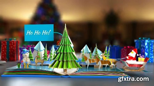 Videohive Christmas Pop-Up Book 2 19052418