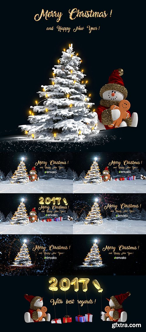 Videohive Christmas Snowman Opener 19018159