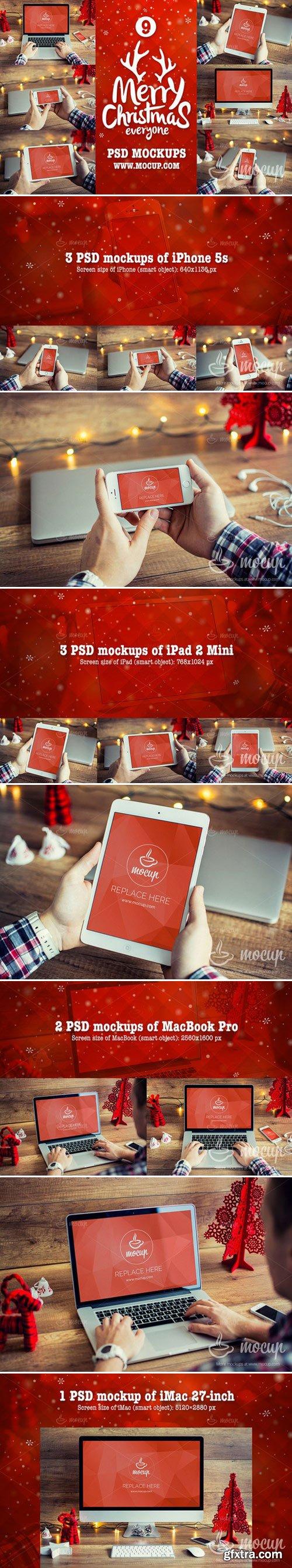 CM - 9 PSD Mockups Christmas 418485