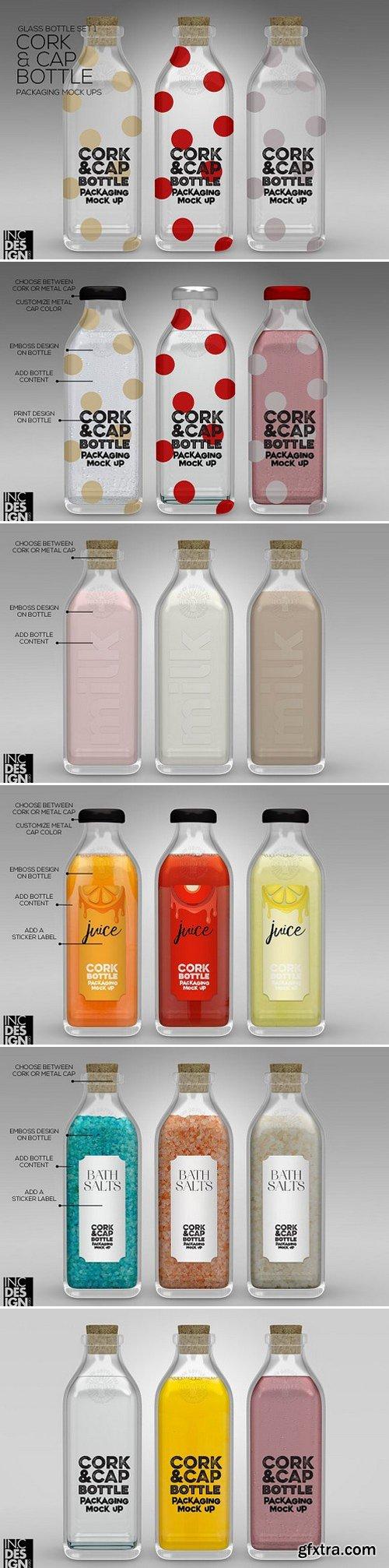 CM - Cork & Cap Bottle Packaging MockUps 1045773