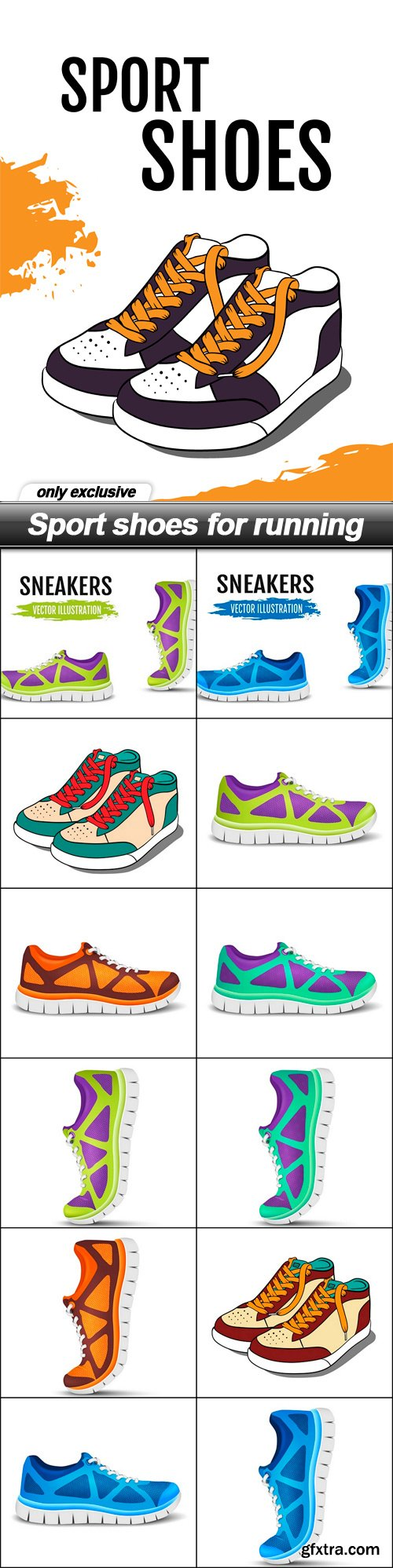 Sport shoes for running - 13 EPS