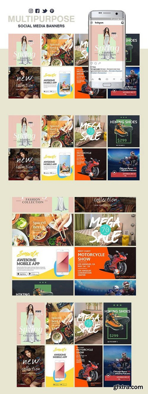 CM - Multipurpose Social Media Banners 1045995