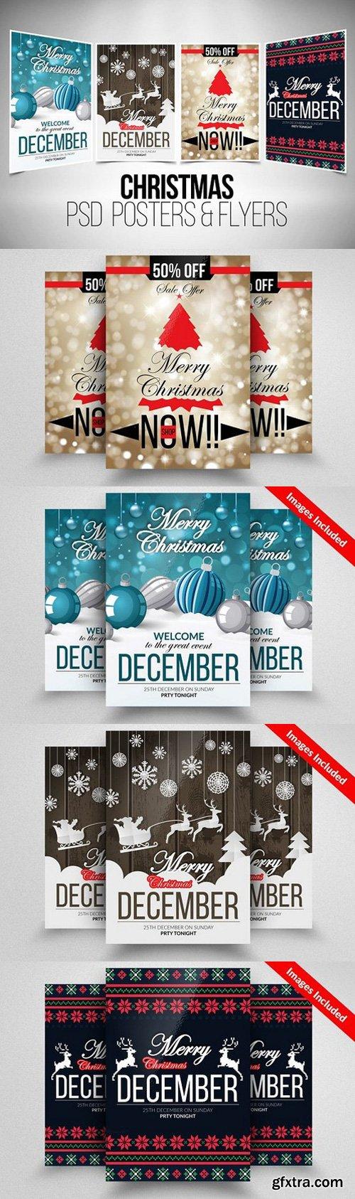 CM - 4 Christmas Flyer Template Bundle 919763
