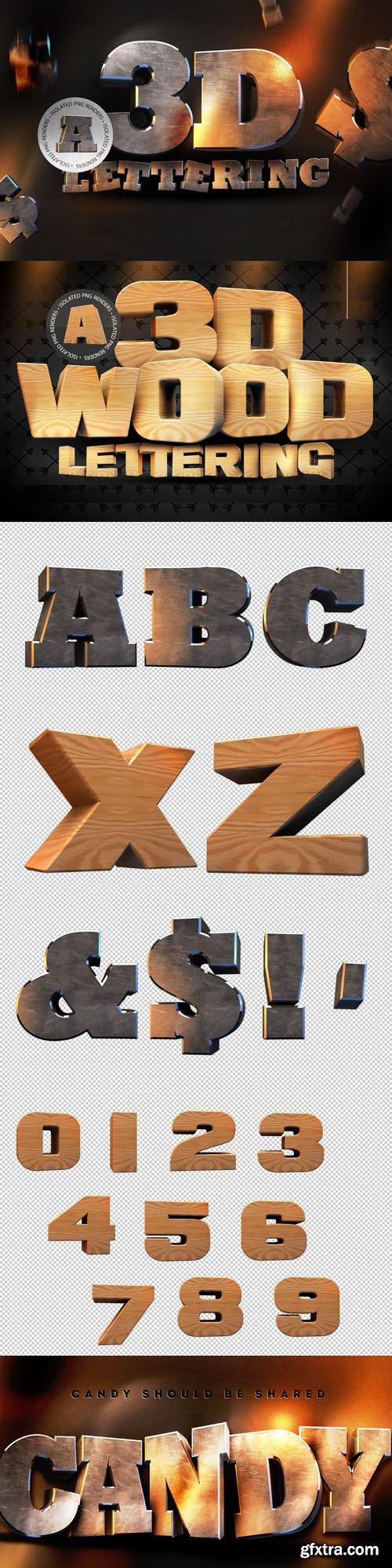 3D Lettering Pack + Wooden Pack