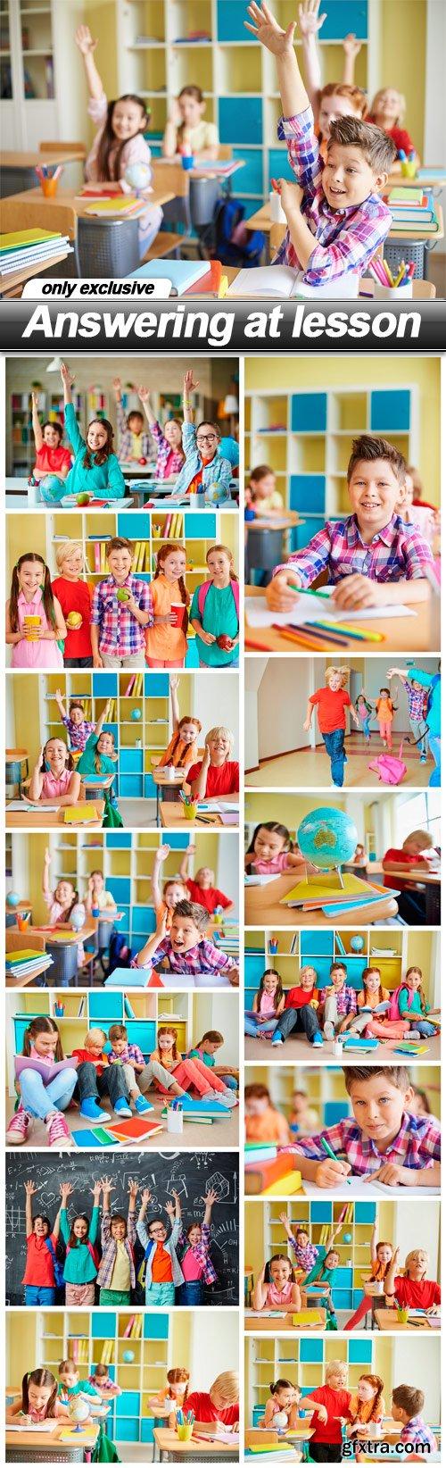 Answering at lesson - 15 UHQ JPEG