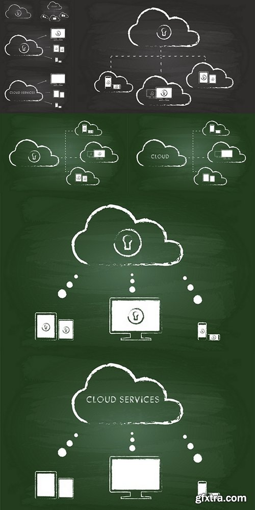 Cloud Computing Graphic On Blackboard
