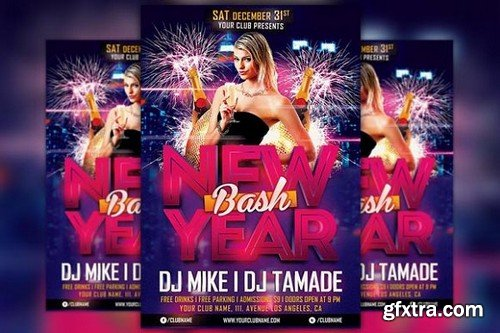 CM - New Year Bash Flyer Template 1098822