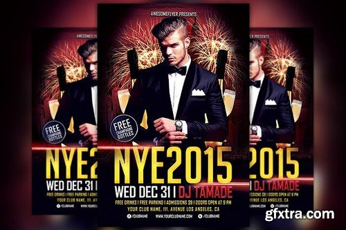 CM - NYE 2016 Party Flyer Template 102015