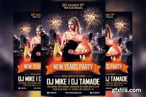 CM - New Years Party Flyer Template 1098824