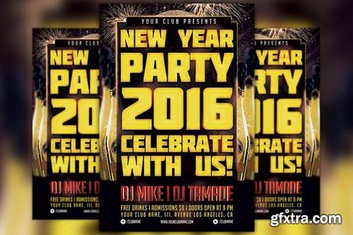 CM - New Year Party Flyer Template 1098826