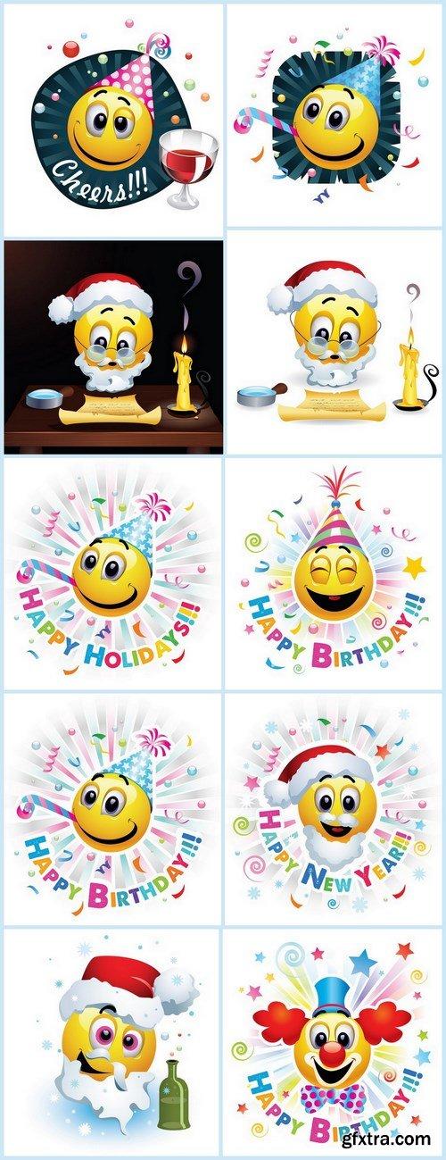 Smiley Celebrating - 10 EPS Vector Stock
