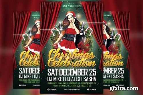 CM - Christmas Celebration Flyer Template 1098283