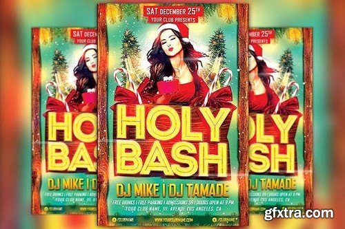 CM - Holy Xmas Bash Flyer Template 1098299