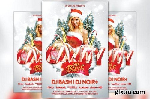CM - Candy Christmas Bash Party Flyer 1098312