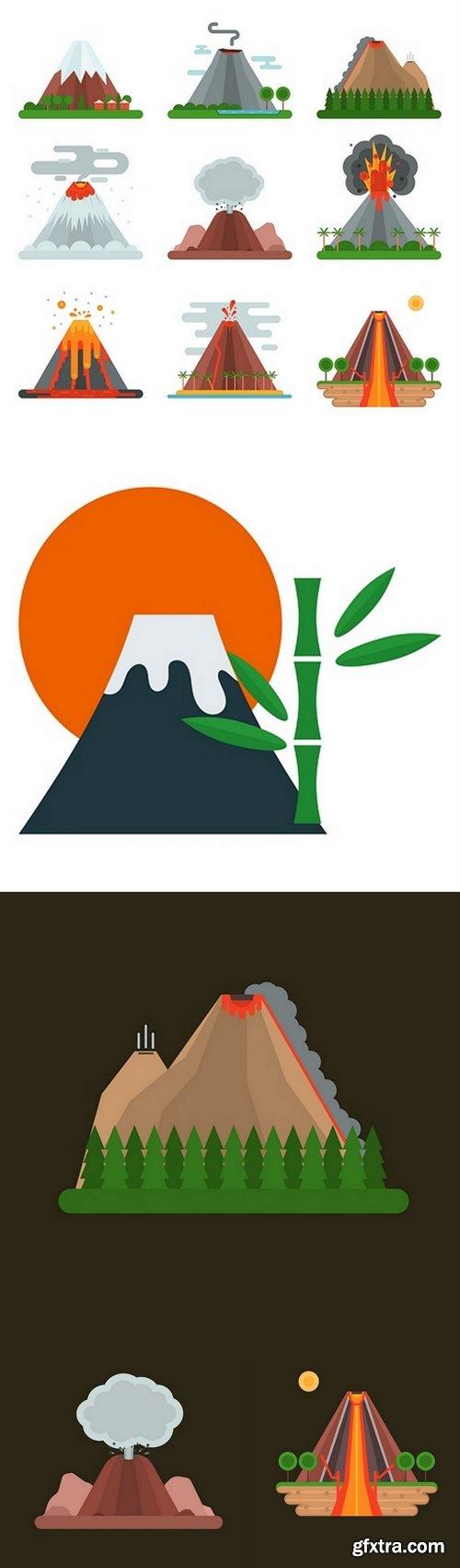 Volcano vector illustration
