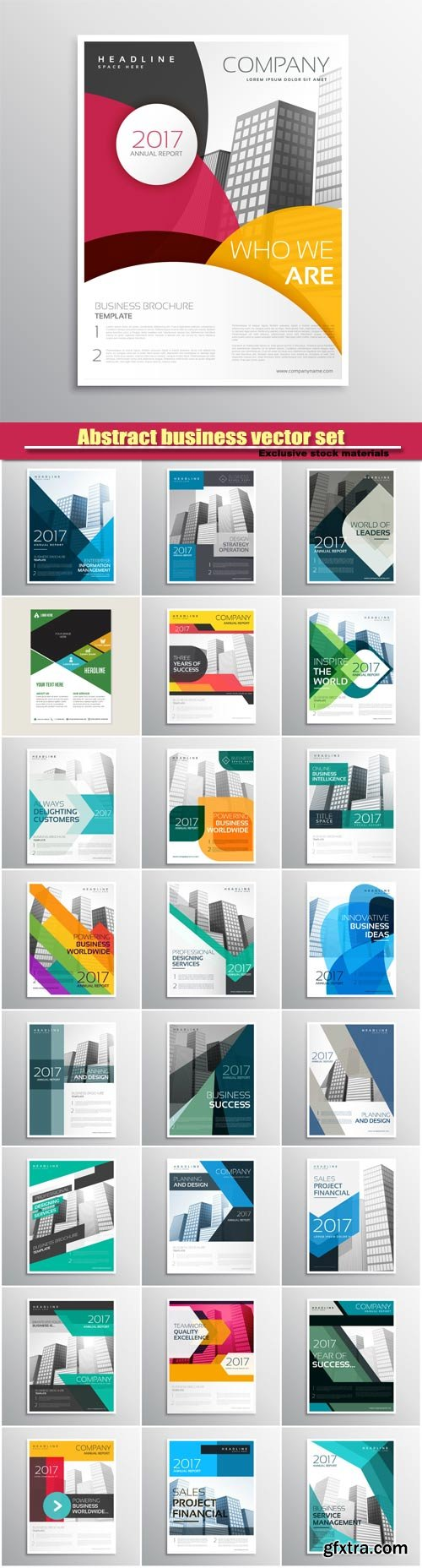 Corporate vector brand business brochure template