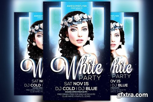 CM - White Night Party Flyer Template 100568