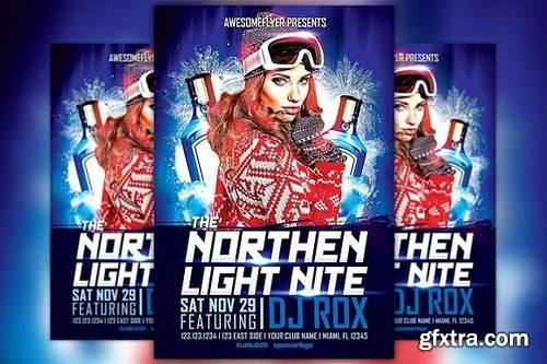 CM - Northern Light Night Flyer Template 164342