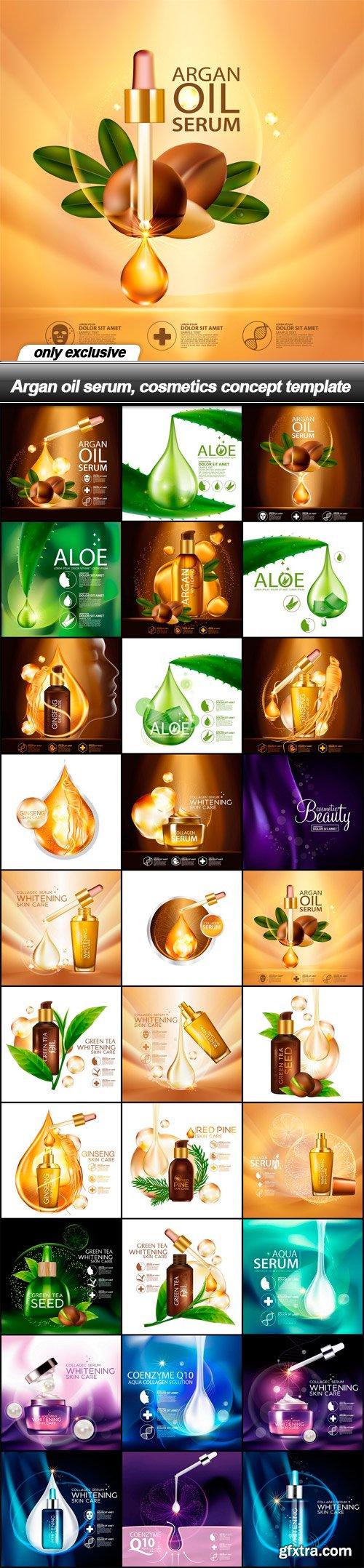 Argan oil serum, cosmetics concept template - 30 EPS