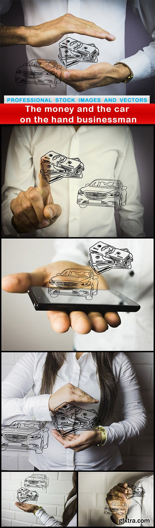 The money and the car on the hand businessman - 6 UHQ JPEG