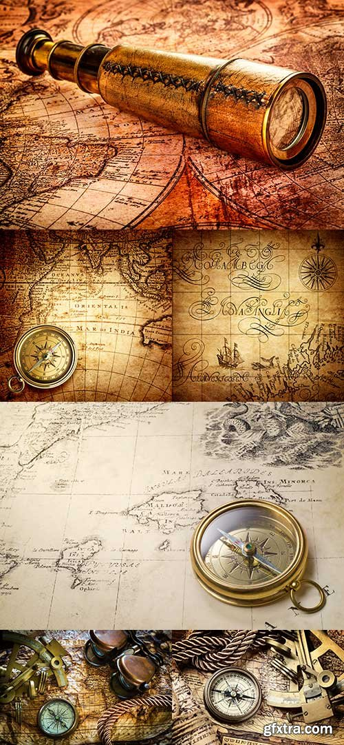 Old Maps and Navigation raster graphics