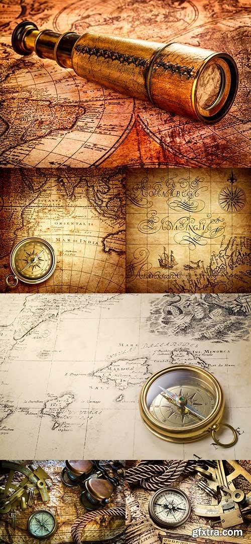 Old Maps and Navigation raster graphics