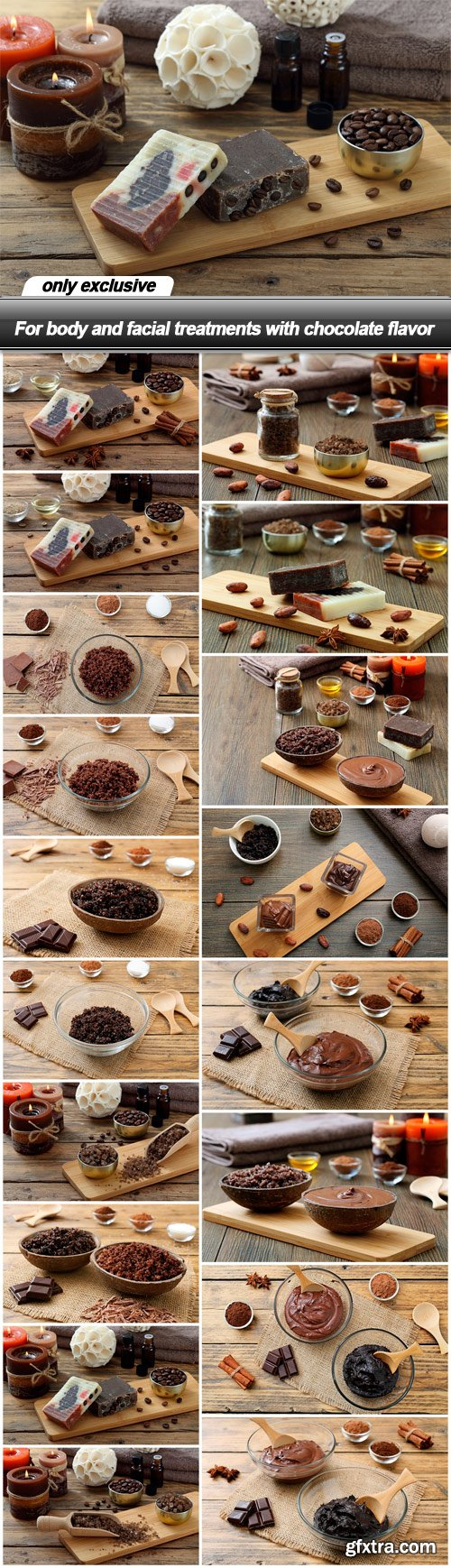 For body and facial treatments with chocolate flavor - 18 UHQ JPEG