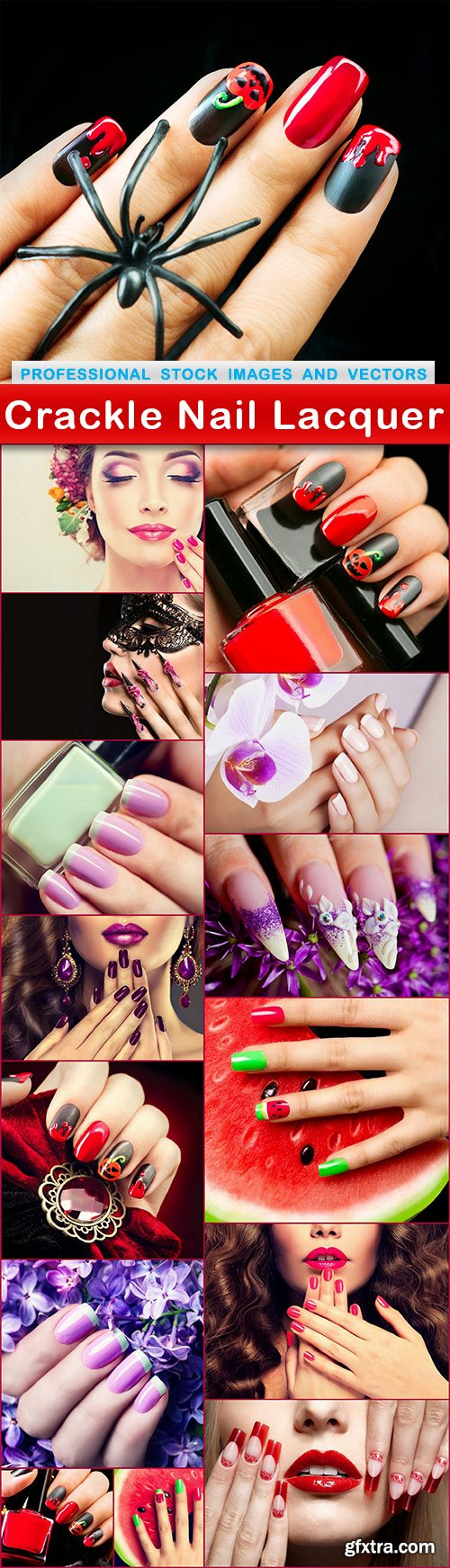 Crackle Nail Lacquer - 15 UHQ JPEG